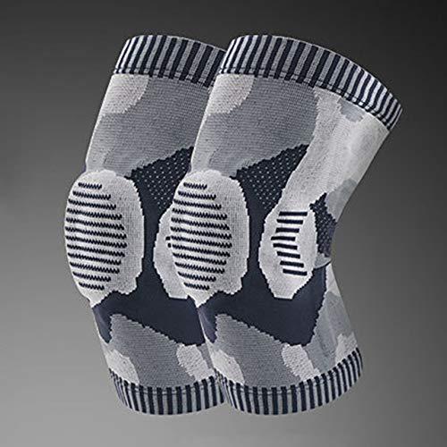 IENPAJNEPQN 1PCS Engranaje de la rótula de la Rodilla Rodillera Apoyo elástico de Nylon Aptitud del Deporte Rodilleras aparatos ortopédicos de compresión de Básquet (Color : 3, Size : XL)