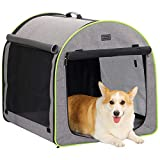 """Petsfit 30"""" x24""""x25(LxWxH) Inches Medium Soft Portable Dog Crate/Cat Crate/Foldable Pet Kennel/Indoor Outdoor Pet Home for Medium Dogs"""