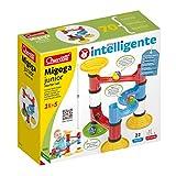 Quercetti- Migoga Junior Gioco con Pista per Biglie, Multicolore, 22 Pezzi, 6502...