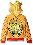 My Little Pony Girls' Apple Jack Costume Zip-up Hoodie Hooded Sweatshirt, Orange/Yellow, XL
