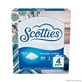 Scotties Everyday Comfort Facial Tissues, 92 Tissues per Box, 4 Pack