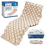 AIESI® Colchón Antiescaras de aire con compresor ajustable de ciclo alterno DOCTOR MATTRESS # 130 celdas # Capacidad 150 Kg...