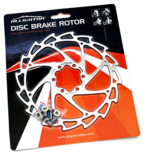 Alligator movimiento inoxidable Rotor de freno de disco para bicicleta de 203/mm Negro
