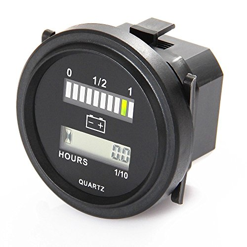 Affordable Lead-acid Battery Capacity Indicator Engine Hour Meter 12V 24V 36V 48V 72V IP65