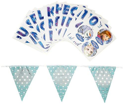Disney - 999591 - Bannière d'anniversaire holographique La Reine des neiges - 1 pièce