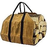 """FDR Canvas Log Carrier Tote Bag,Borsa per legna da ardere, 39 """"× 18"""" supporto per legna da ardere, accessori per stufa a legna per camino"""