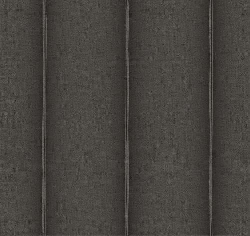 DansLemur 1056-8 vliesbehang Fiber Spripe, zwart, 60 x 18 x 18 cm
