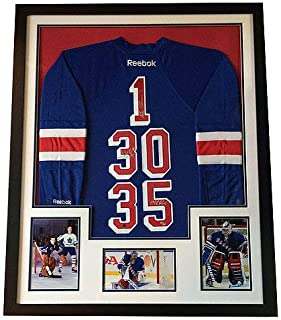 Ny Rangers Autographed Signed Jersey Henrik Lundqvist Richter Giacomin Framed Steiner Le