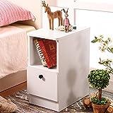 FJIWDTGYHFGT Piccolo comodino mini,Armadi laterali ultra stretti,Armadietti e cassetti camera da letto soggiorno piccola dimensione-D