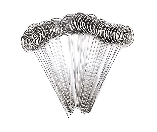 Honbay 30pcs DIY Round Shape Ring Loop Craft Wire Clip Table Card Note Photo Memo Holder Metal Clamp Clay Cake Decoration Accessories