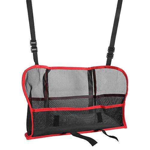 DAUERHAFT Fácil de Instalar Car Net Pocket Car Organizer Bag Fibra de poliéster Engrosada para Carteras de Tiendas y Bolsas de(Red, Luxury Model (Improved Model))