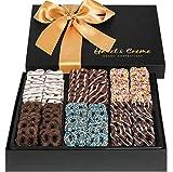 Hazel & Creme Chocolate Pretzel Gift Basket- Gift Box - Gourmet Holiday Food Gift (Extra Large Box)