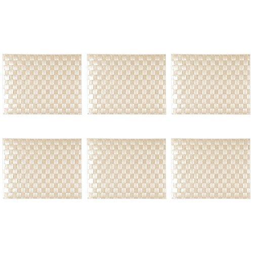 Saleen 1010154101 Tischset, gewebt, rechteckig, 30x40cm, Sahara (6 Stück)