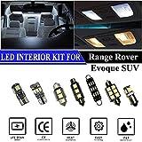 Hokuotolite Kit de repuesto para luces interiores LED para Land Rover Range Rover Evoque SUV 2012-2015 (9 piezas), color blanco