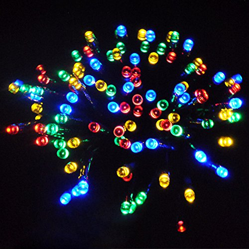 JnDee Waterproof Fairy Lights 30M 300 LED Plus 10M Cable Lead Multi Colours, 8 Light Effects, for Indoor and Outdoor Christmas Tree Wedding Parties, 31V Safe Voltage