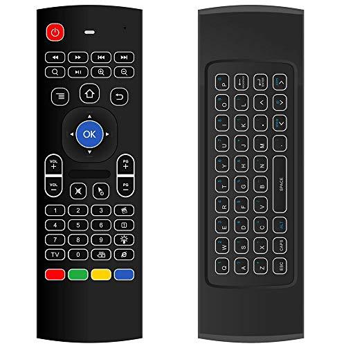 Moligh muñeca MX3 2.4G teclado inalámbrico retroiluminación Air Mouse Control remoto para TV Box ordenador Smart TV 3 Axir giroscopio 3 Axir acelerador