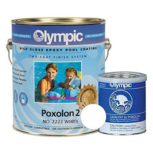 KELLEY TECHNICAL COATING Olympic Poxolon Epoxy Pool Paint, 1 Gallon, White