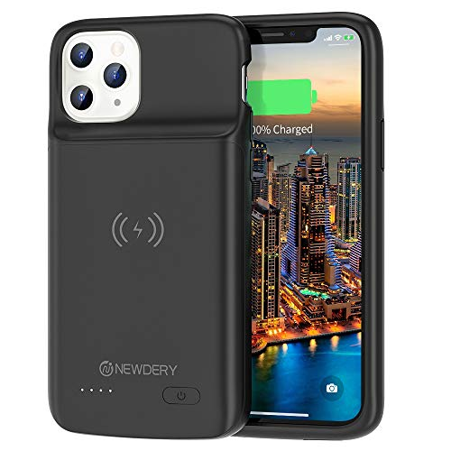 4800mAh Extended Rechargeable External Charger Case Compatible iPhone 11 Pro 5.8 Inches Black NEWDERY Upgraded iPhone 11 Pro Battery Case Qi Wireless Charging Compatible