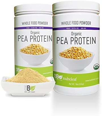 Nubeleaf 80% Pea Los Angeles Mall Protein Powder Non-GMO 4 years warranty - Gluten-Free Org Raw