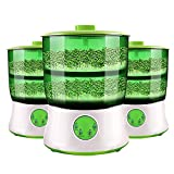 DOTSOG 110V Bean Sprouts Machine Food Grad PP Material Automatic Seed Sprouter Power-Off Memory Function Sprouter…