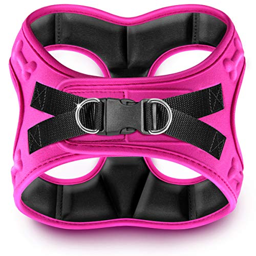 metric USA Comfort fit Dog Harness Easy to Put-on Comfortable Soft Padded Adjustable Step in Pet Vest Harnesses for Small and Medium Dogs, Pink, XXS, Chest 12-14