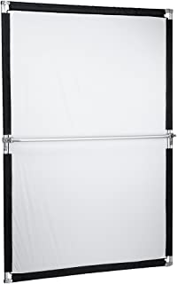 Pro Studio Solutions 140cm x 200cm (55.25in x 78.75in) Sun Scrim - Collapsible Frame Diffusion & Silver/White Reflector Kit with Handle and Carry Bag
