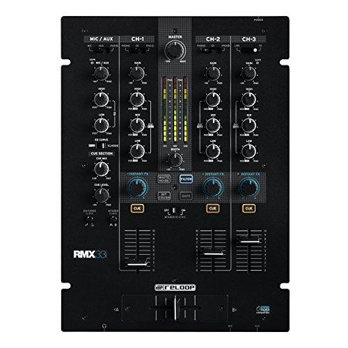 Scratch de DJ / Mezclador Battle Reloop RMX-33i - 3 + 1 Canales con...