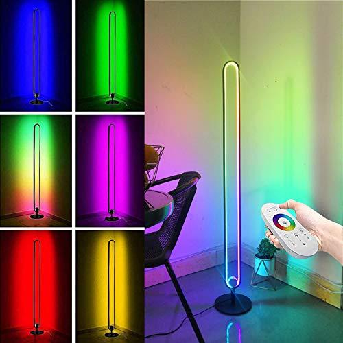 Ydshyth Led Farbwechsel Stehlampe Mit Fernbedienung RGB Farbtemperaturen Und Helligkeit Stufenlos Dimmbar Für Raum Schlafzimmer Balkon Büro Lesung, 20w