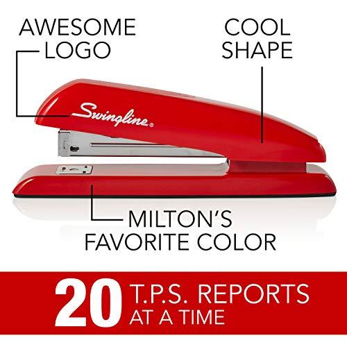 Swingline Stapler, Milton's Red Stapler from Office Space Movie, 646 Desktop Stapler Heavy Duty, 20 Sheet Capacity, For Office Decor, Desk Accessories & Home Office Supplies (64698) Photo #5