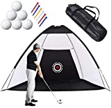 MUGUO 3M Golf Net Portable Golf Accessories for Indoor Outdoor Foldable Golf Chipping Net Driving Hitting Net, Golf Practice Net for Backyard Golf Training Aid Home Golf Driving Range with Target