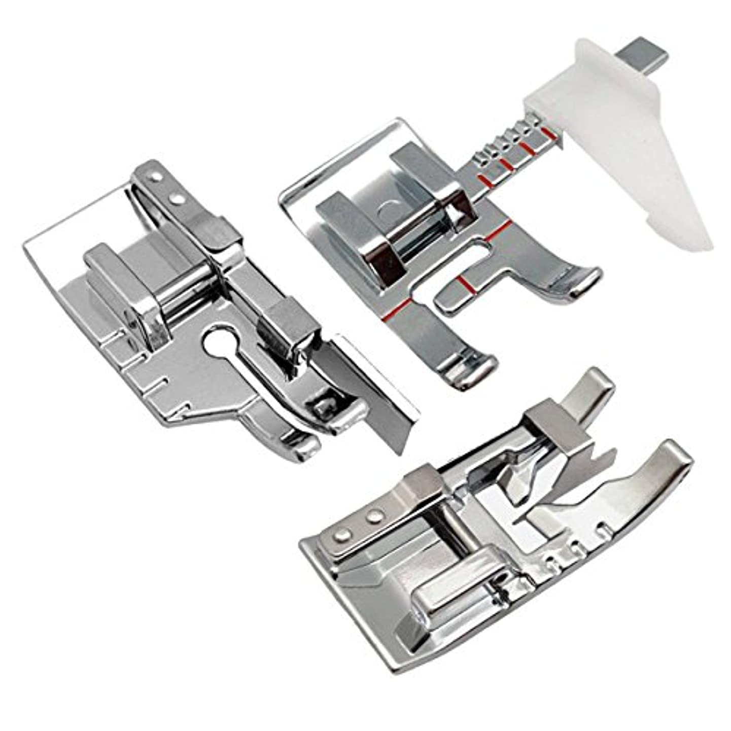 3pcs Sewing Machine Presser Foot Set-1/4 Inch Quilting Foot/Adjustable Guide Sewing Presser Foot/Edge Joining Stitch in The Ditch Sewing Presser Foot for Most Low Shank Sewing Manchine