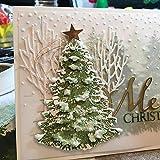 P12cheng Fustelle Metallo Stencil,Albero di Natale Die Cuts Stencil per DIY Scrapbooking Paper Cards Craft Emboss Xmas Card Artigianato Decor Silver