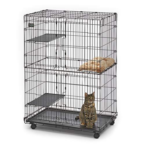 MidWest Cat Playpen / Cat Cage Includes 3 Adjustable Resting Platforms, Removable Leak-Proof Pan,...