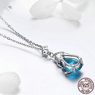 5 cm KianaLice Aurora Borealis Parure de bijoux en argent sterling 925 avec pendentif en forme de cube et boucles doreilles et collier pour femme 40