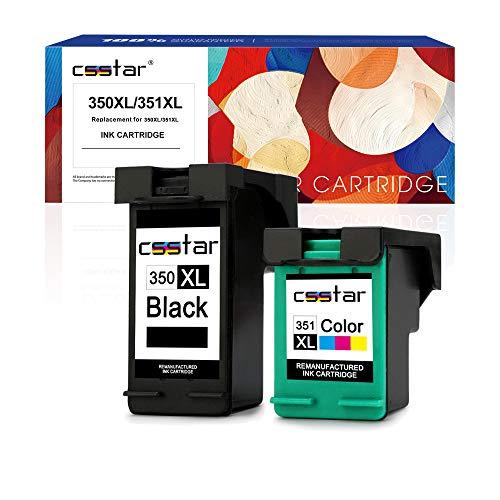 CSSTAR Cartucce d'inchiostro rigenerate di ricambio per HP 350 351 XL per Photosmart C4480 C4380 C5280 C4280 C4580 C4585 C4500 C4485 C4400 C5180 C5200 Stampanti, Nero Tricolore