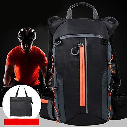 WWWL Mochila de hidratación para bicicleta de montaña, 10 l, transpirable, mochila de hidratación, ligera, color naranja