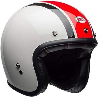 Capacete Bell Helmets Custom 500 Ace Café Stadium Branco Preto Vermelho 60