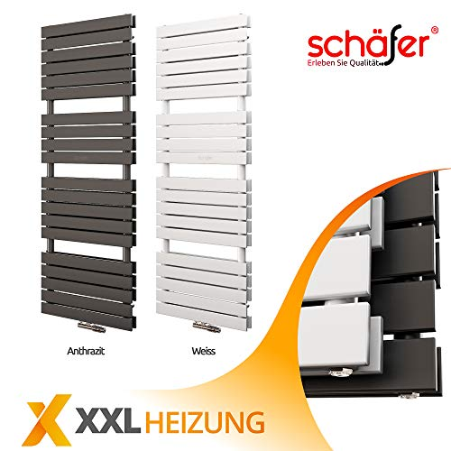 Design Badheizkörper PULLMAN Schäfer ® 1974 WATT Doppellagig. (600 x 1800 mm, Weiß)