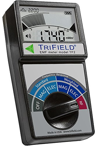 Electric Field, Radio Frequency (RF) Field, Magnetic Field Strength Meter by Trifield – EMF Meter Model TF2 – Detect 3 Typ...