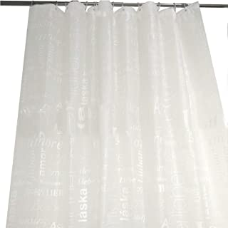 A- 180 x 180 cm Mildew Resistant Anti-Bacterial Bathroom Curtains by Inkach Clear Shower Curtain Liner