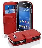 Cadorabo Coque pour Samsung Galaxy Trend Lite Rouge Cerise Housse de Protection Etui Portefeuille Cover pour Trend Lite...
