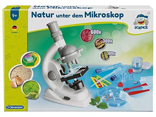 Clementoni . Natur unter dem Mikroskop Experimentierkasten Kinder Mikroskop
