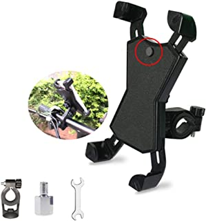 MMJJQWE 2 Pcs Bike Motorcycle Phone Mount,360° Rotation Universal Bicycle Motorcycle Phone Mount, for iPhone 11 Pro Max/X/8/7 Plus, Samsung