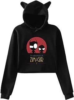 Women Invader Zim Gir Hoodie Cute Black