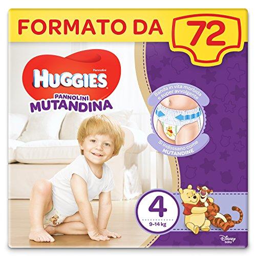 Huggies Mutandina Windel, Größe 4, 9-14 kg, 2 Packungen à 36 Stück