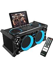 SPLBOX200-BK - Ibiza Sound - DRAAGBAAR AUDIO STEREO SYSTEEM MET BATTERIJ, BLUETOOTH, USB, SD & FM TUNER