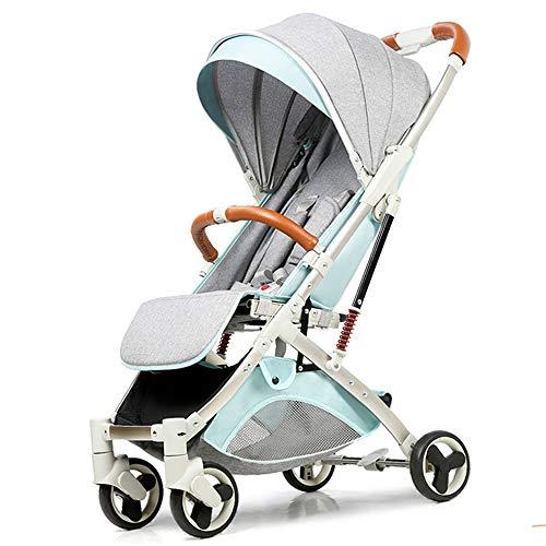 Baby trolley Passeggino, Convertibile in Culla Convertibile, poggiapiedi Regolabile, Grande Ruota, Ammortizzatore a Quattro Ruote, capacità di carico 15 kg, Dimensioni: 80 cm * 46 cm * 99 cm