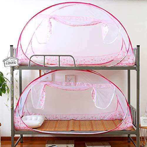 XGYUII slaapzaal muggennetje eenpersoons bed tent opvouwbare gratis installatie yurt rits muggennetten tent