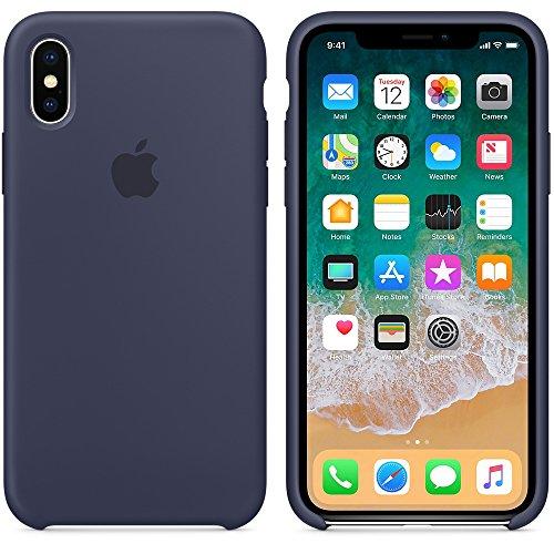 El último Verano iPhone X Funda, Slim Líquido de Silicona Gel Carcasa Anti-Rasguño y Resistente Huellas Dactilares Totalmente Protectora Caso Cover Case para iPhone X (5.8')(Azul Noche)
