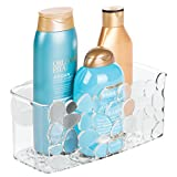 iDesign Duschablage mit Saugnapf, kleiner Duschkorb aus Kunststoff, hängende Seifenablage mit...
